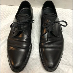 Men's Prada Black Leather Oxford Shoes sz 8